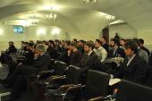 Митрополит Волоколамский Иларион встретился с учащимися Общецерковной аспирантуры и докторантуры