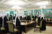 Под председательством Святейшего Патриарха Кирилла в Москве открылось очередное заседание Священного Синода