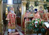 Патриаршее служение в день памяти великомученика Георгия Победоносца в Георгиевском храме на Поклонной горе