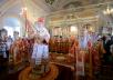 Патриаршее служение в праздник Иверской иконы Божией Матери в Новодевичьем монастыре г. Москвы. Хиротония архимандрита Антония (Азизова) во епископа Ахтубинского