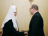 Святейший Патриарх Кирилл встретился с Князем Монако Альбертом II