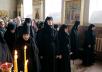 Вечернее богослужение в канун Великой среды в Крестовоздвиженском Иерусалимском монастыре
