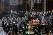 Патриаршее служение в Великую среду в Храме Христа Спасителя