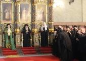 Предстоятели и представители Поместных Православных Церквей вознесли славословие Господу в кафедральном соборе Белграда
