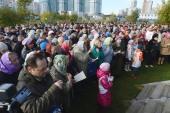 На Ходынском поле в Москве состоялось молитвенное стояние в поддержку восстановления храма преподобного Сергия Радонежского