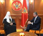 Святейший Патриарх Кирилл встретился с премьер-министром Черногории Мило Джукановичем
