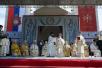 Визит Святейшего Патриарха Кирилла в Сербскую Православную Церковь. Литургия на площади перед храмом свв. царей Константина и Елены в городе Ниш