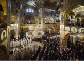 Предстоятели Поместных Православных Церквей совершили освящение собора Воскресения Христова в Подгорице