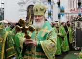 В день преставления преподобного Сергия Радонежского Святейший Патриарх Кирилл возглавил престольные торжества в Троице-Сергиевой лавре