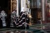 Патриаршее служение в Храме Христа Спасителя. Чтение Великого канона преподобного Андрея Критского
