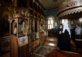 Святейший Патриарх Кирилл посетил на Афоне Илиинский скит, основанный преподобным Паисием Величковским