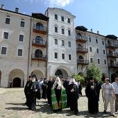 Святейший Патриарх Кирилл посетил монастырь Зограф