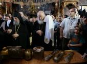Предстоятель Русской Церкви посетил Великую Лавру преподобного Афанасия Афонского