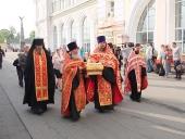 Завершилось пребывание ковчега с частицей мощей святого равноапостольного князя Владимира в Хабаровской епархии