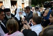 Святейший Патриарх Кирилл посетил в Афинах русский храм Святой Троицы