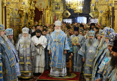 Предстоятель Русской Церкви совершил Литургию в Троицком соборе в подмосковном Подольске