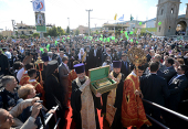 Предстоятель Русской Православной Церкви передал в дар храму Панагия Сумела частицу мощей преподобного Серафима Саровского