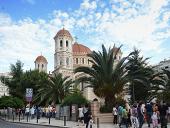 Предстоятель Русской Церкви совершил молебен в кафедральном соборе во имя святителя Григория Паламы в Салониках