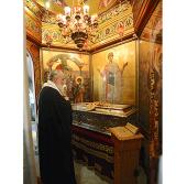 Предстоятель Русской Православной Церкви поклонился святыням Салоник