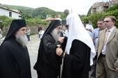 Святейший Патриарх Кирилл прибыл на Афон