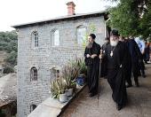 Святейший Патриарх Московский и всея Руси Кирилл посетил место подвигов преподобного Силуана Афонского