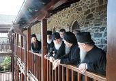 Святейший Патриарх Кирилл посетил восстановленные после пожара строения афонского Свято-Пантелеимонова монастыря