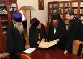 Новоспасский монастырь передал в фонд Синодальной библиотеки собрание дореволюционной епархиальной периодической печати