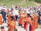 Международный крестный ход с частицей мощей святого равноапостольного князя Владимира прибыл в Хабаровск
