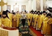 Святейший Патриарх Кирилл совершил Литургию в Троицком соборе Данилова монастыря г. Москвы в день празднования 30-летия возрождения обители