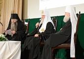 Выступление Святейшего Патриарха Кирилла на торжественном собрании, посвященном 30-летию возобновления монашеской жизни в Даниловом монастыре