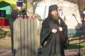 В День памяти жертв политических репрессий епископ Воскресенский Савва возглавил традиционную акцию «Голос памяти» на Бутовском полигоне