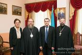 Митрополит Астанайский и Казахстанский Александр встретился с генеральными консулами Германии, США, Франции и Украины в Алма-Ате