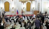 Святейший Патриарх Кирилл посетил государственный прием в Кремле по случаю Дня народного единства
