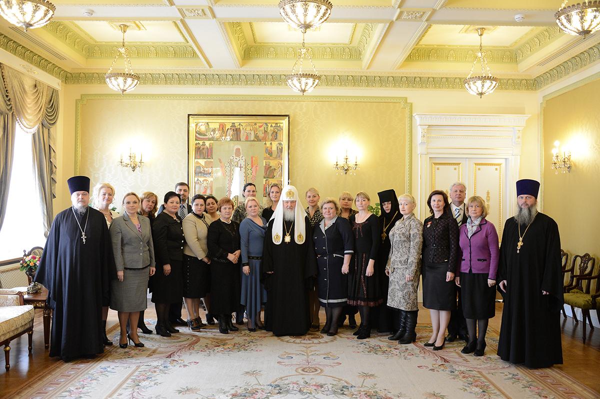 Встреча Святейшего Патриарха Кирилла с представителями Всеукраинской общественной организации «Союз православных женщин»