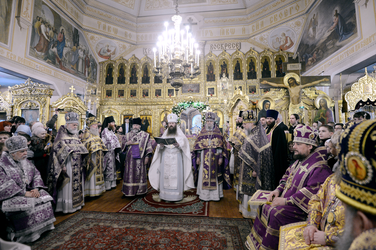 Патриаршее служение в неделю 2-ю Великого поста в храме Преображения Господня в Богородском
