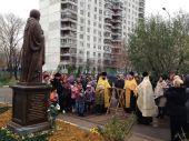 В московском детском доме освящен памятник преподобному Сергию Радонежскому