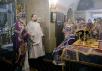 Патриаршее служение в день памяти 40 мучеников Севастийских в храме святителя Николая в Хамовниках. Хиротония архимандрита Митрофана (Осяка) во епископа Гатчинского и Лужского