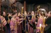 Патриаршее служение в канун недели 1-й Великого поста в Сретенском ставропигиальном монастыре