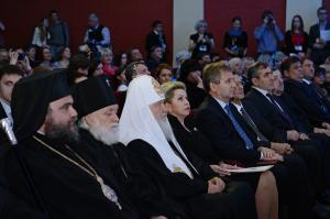Святейший Патриарх Кирилл принял участие в церемонии закрытия юбилейного X Международного кинофестиваля «Лучезарный ангел»