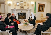 Святейший Патриарх Кирилл встретился с архиепископом Миланским кардиналом Анджело Сколой