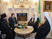 Святейший Патриарх Кирилл встретился с губернатором Курской области А.Н. Михайловым