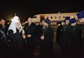 Патриарший визит в Калининградскую епархию. Встреча в аэропорту Калининграда
