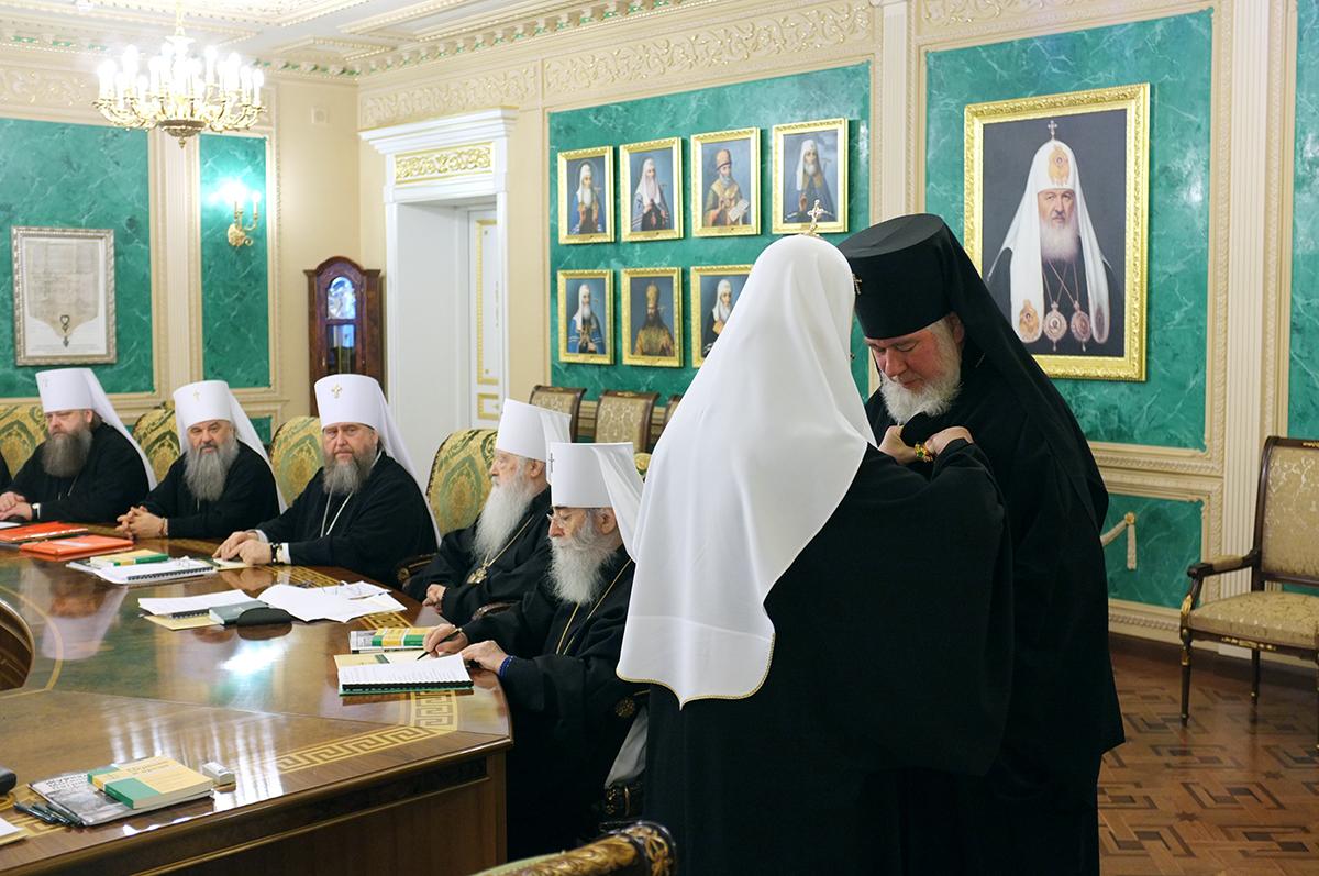 Заседание Священного Синода Русской Православной Церкви 12 марта 2013 года
