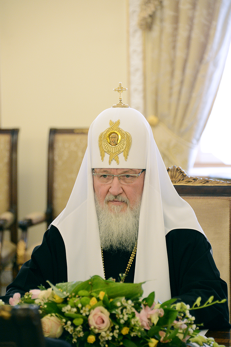 Встреча Святейшего Патриарха Кирилла с Главой Палестинской национальной администрации Махмудом Аббасом