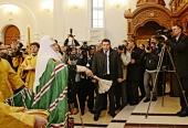 Святейший Патриарх Кирилл совершил малое освящение храма в честь святого благоверного князя Александра Невского в Калининграде