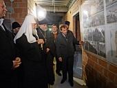 Святейший Патриарх Кирилл посетил строящийся православный молодежный центр в пос. Янтарный Калининградской области