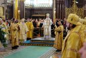 В день своего рождения Святейший Патриарх Кирилл совершил Литургию в Храме Христа Спасителя