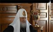 Пасхальное интервью Святейшего Патриарха Московского и всея Руси Кирилла телеканалу «Россия»