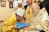 В день своего рождения митрополит Киевский Владимир совершил Божественную литургию и удостоил высоких наград ряд архиереев Украинской Православной Церкви