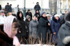 Молебен на месте будущего памятника святителю Ермогену у стен Московского Кремля
